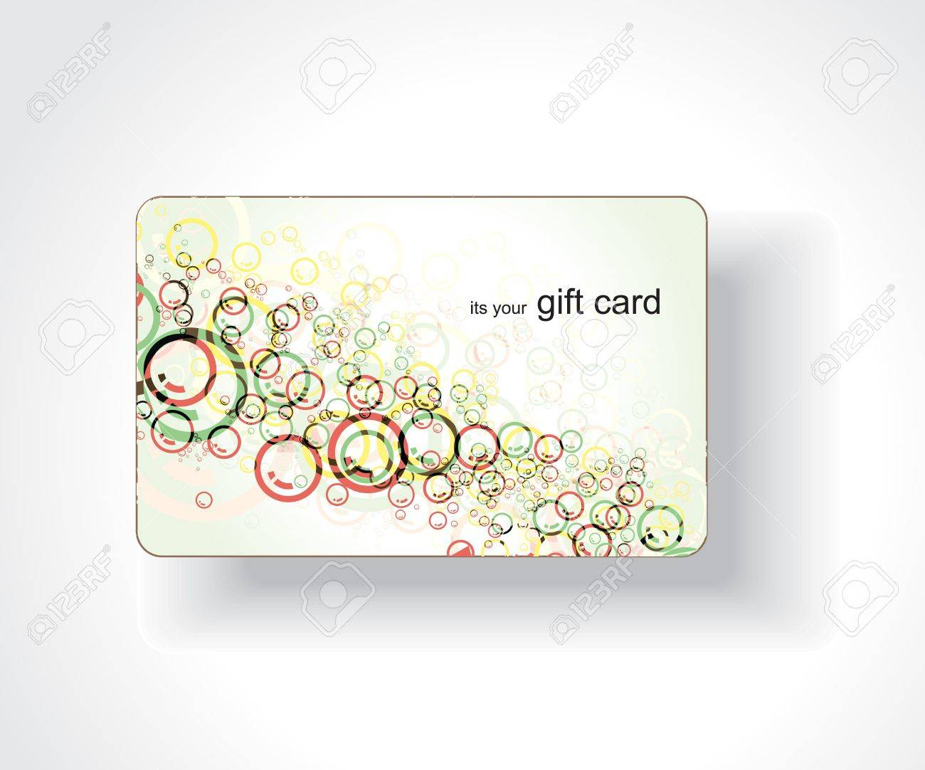 Beautiful gift card, vector illustration. Stock Vector - 7153525
