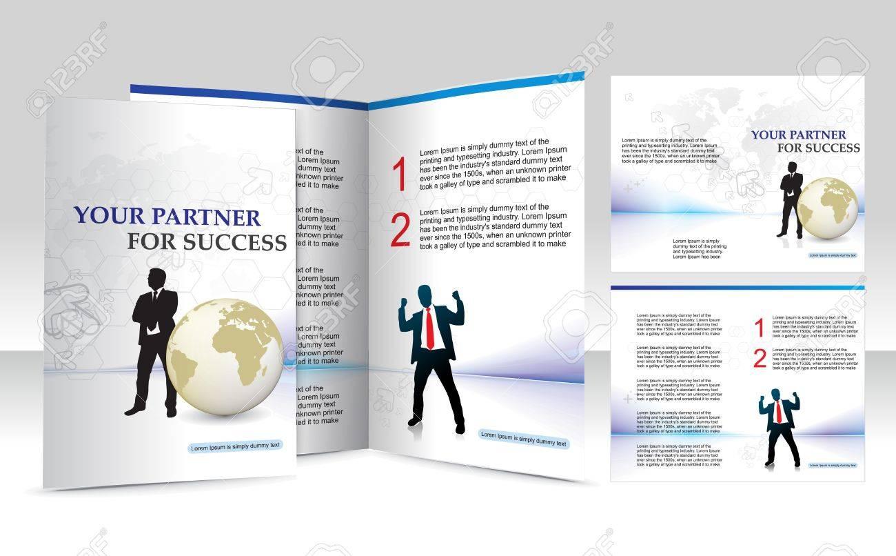 brochure design for Business artworks. Vector illustration. Stock Vector - 7153562