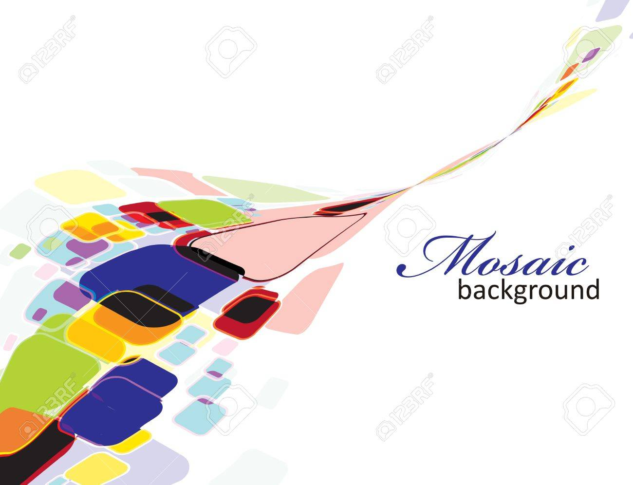 Abstract mosaic colorful background Stock Vector - 7272222