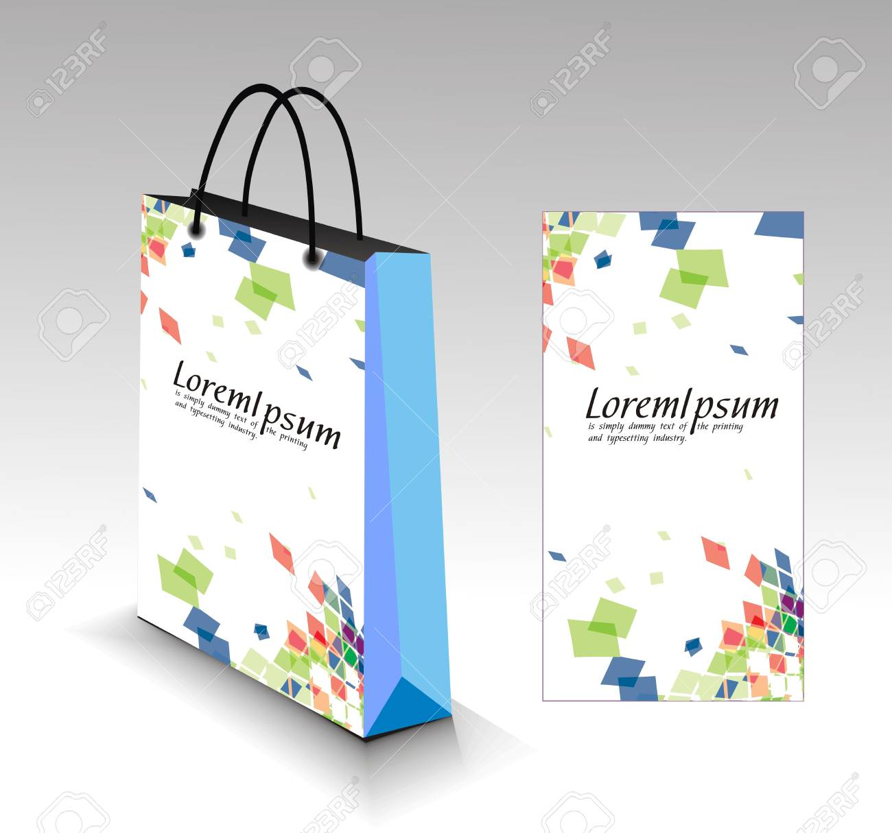 shopping bag isolated on white background. Stock Vector - 7327252