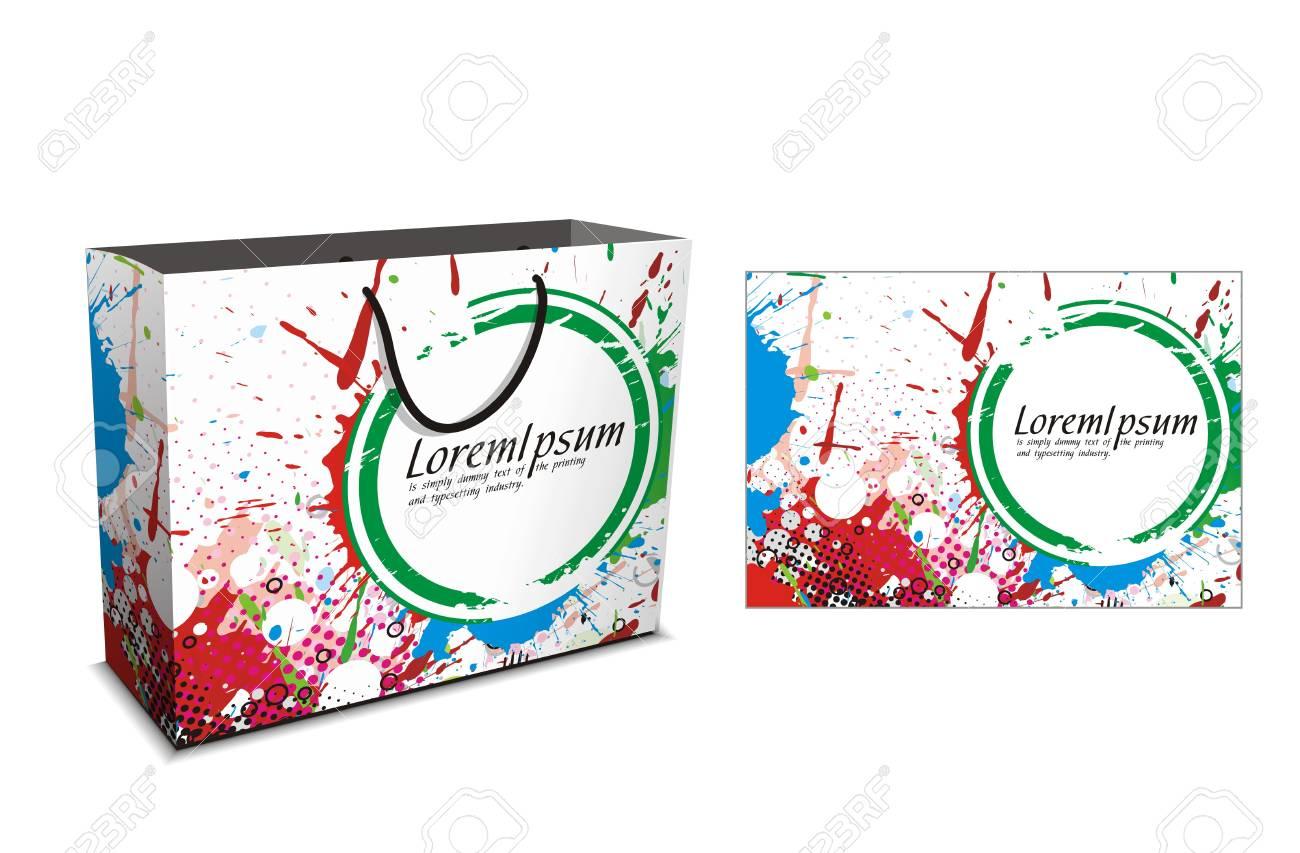 shopping bag isolated on white background,  illustration. Stock Vector - 7390189