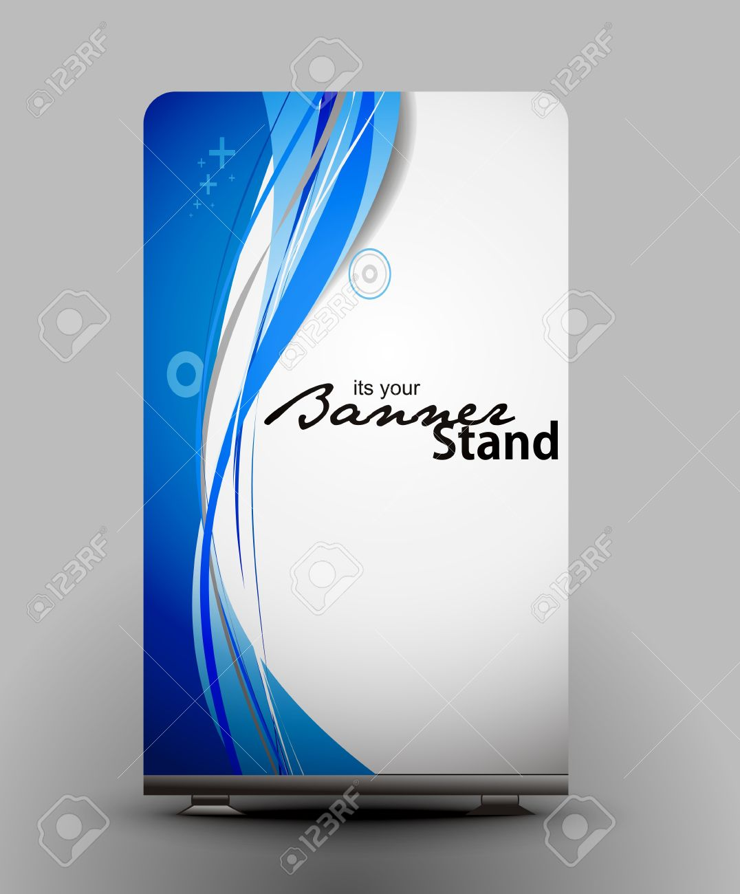A Roll Up Display With Stand Banner Template Design Royalty Free ...