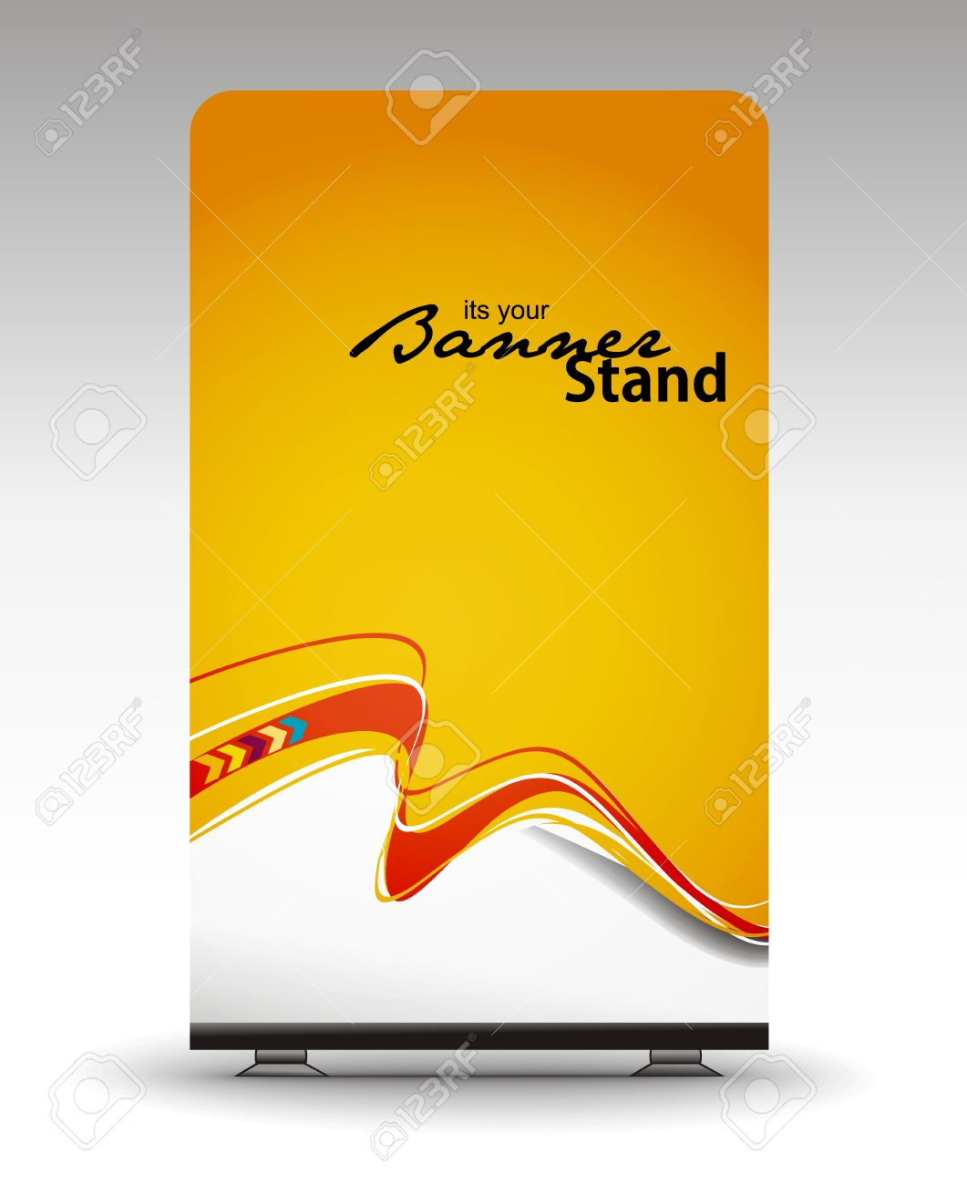 Design banner template - A Roll Up Display With Stand Banner Template Design Stock Vector 7554352
