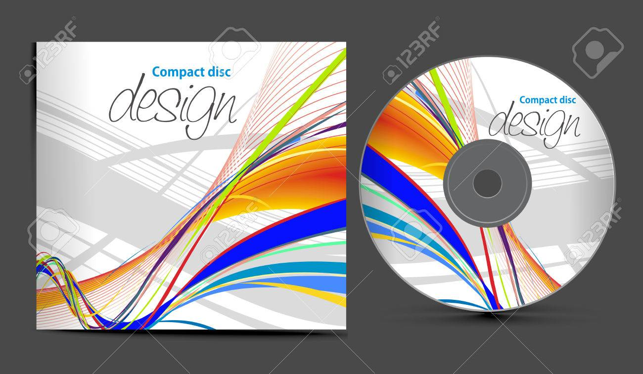 Cd box template download free vector art stock graphics amp images - Music Box Vintage Cd Cover Design Template With Copy Space Illustration Illustration