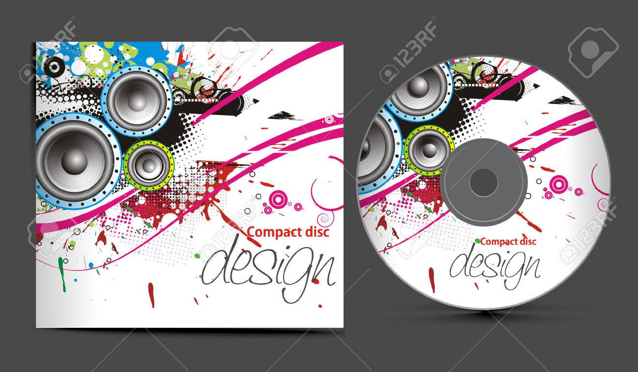 cd cover design template with copy space,  illustration Stock Vector - 8173037