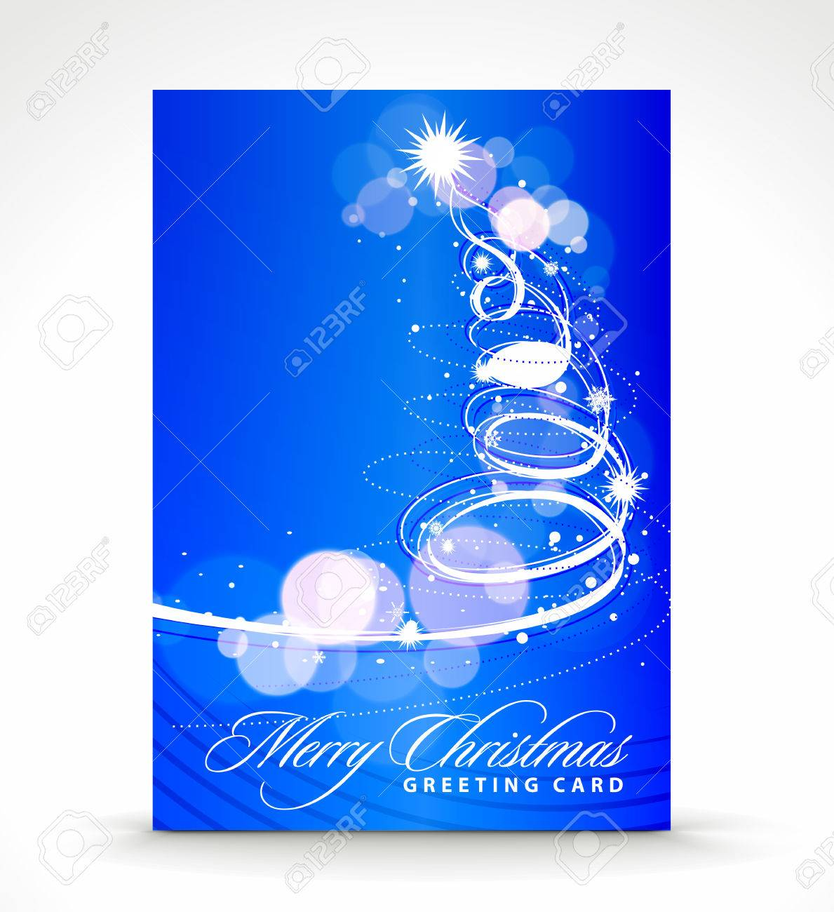 Christmas greeting card with presentation design. Stock Vector - 8238261