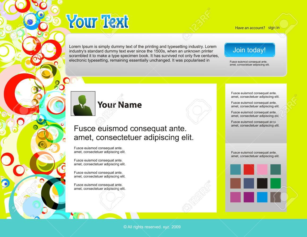 twitter themes website design template background illustration