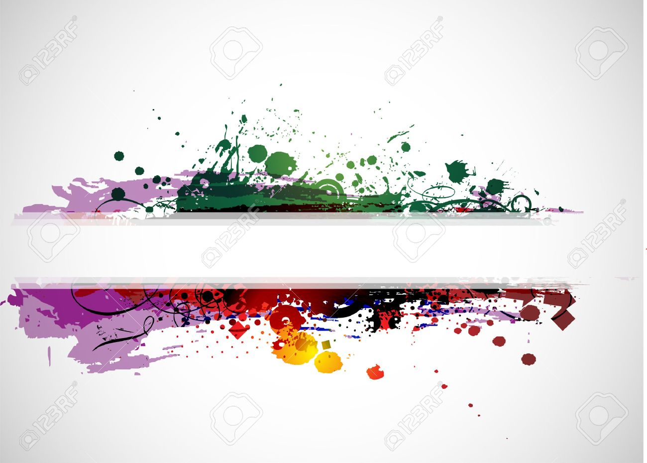 abstract colorful banner background with space of your text
