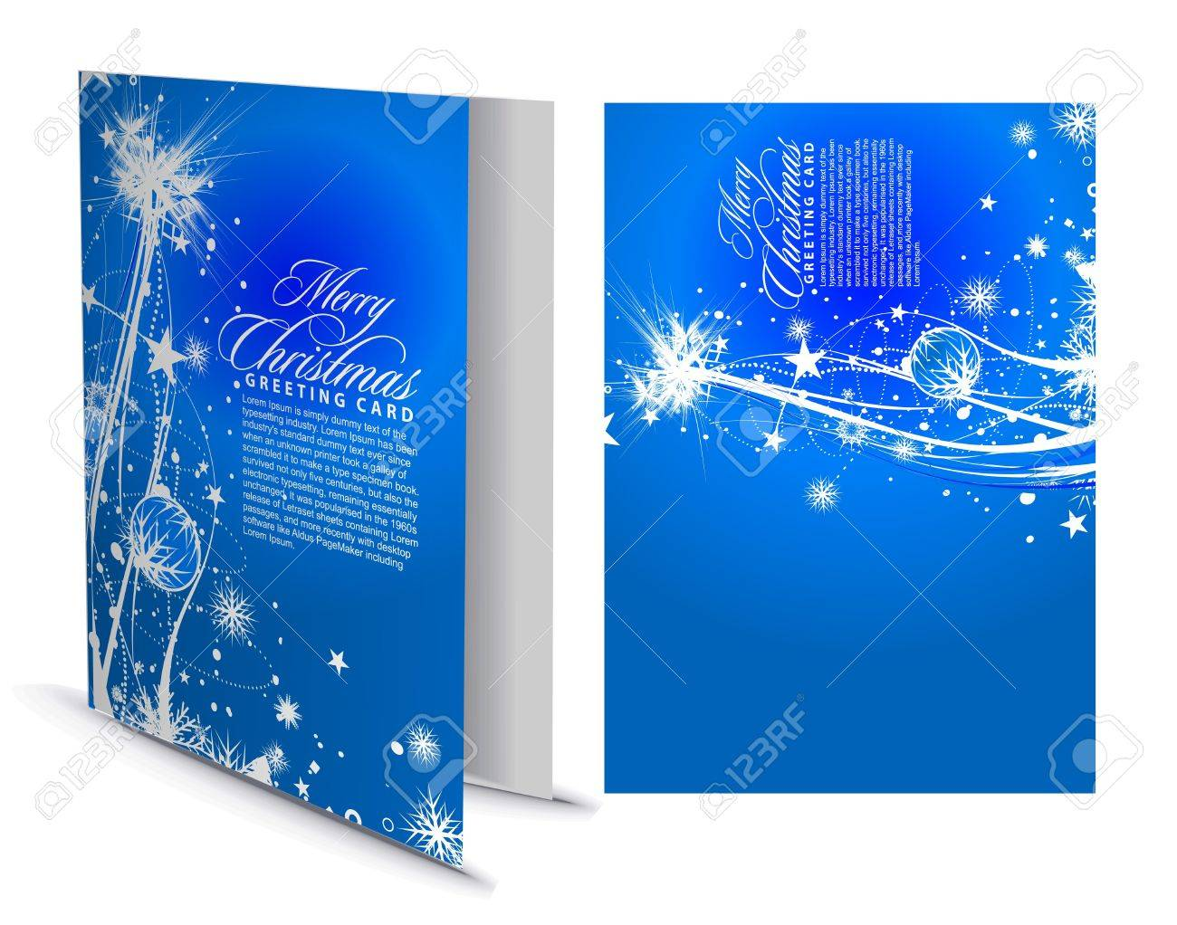 Christmas Greeting Card With Presentation Design Illustration Royalty Free Cliparts Vectors And Stock Illustration Image 8371696