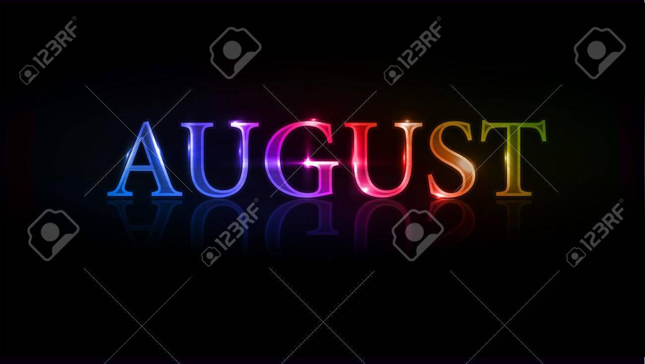 illustration - colorful august design element. Stock Vector - 8411700