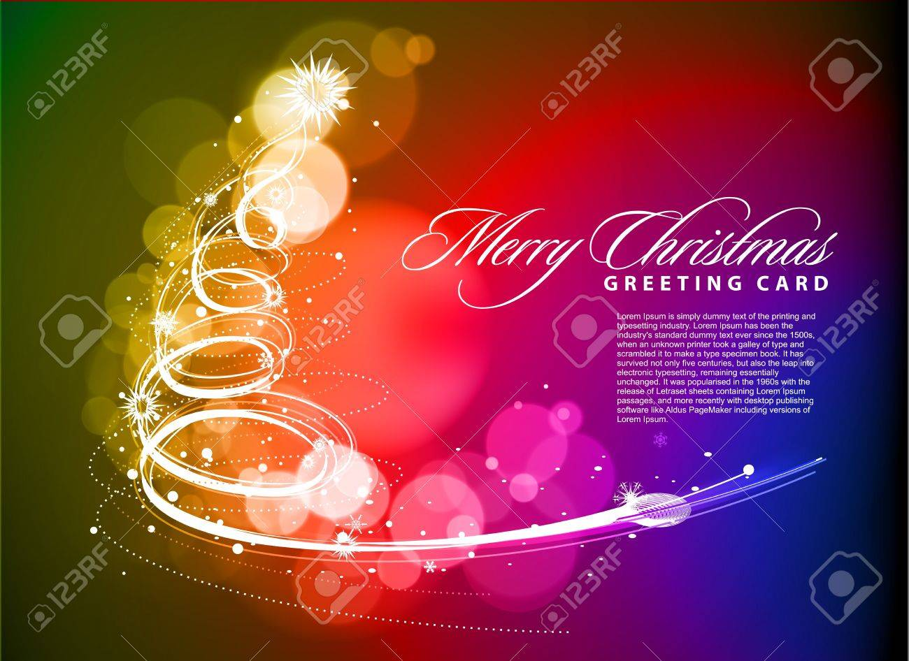 colorful background for new year and Christmas, vector illustration - 8498898