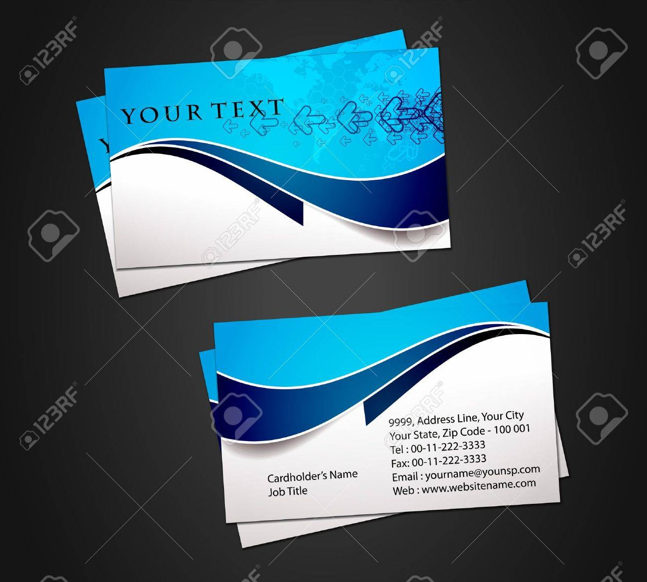 Vector Business Card Set, Elements For Design. Royalty Free Cliparts ...