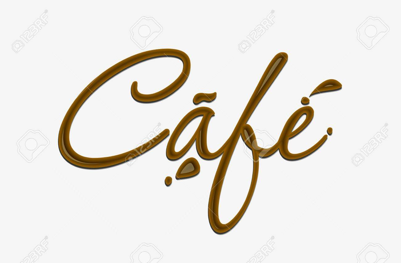 Chocolate cafe text made of chocolate  design element. Stock Vector - 8622201