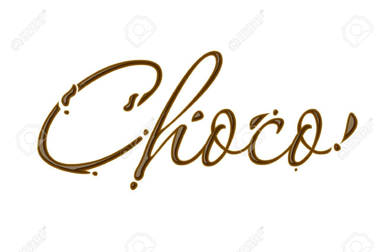Chocolate choco text made of chocolate  design element. Stock Vector - 8622109