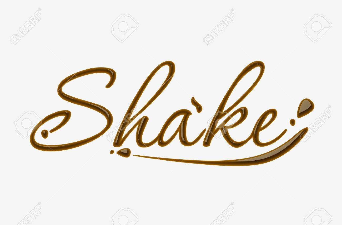 Chocolate shake text made of chocolate design element. Stock Vector - 8622213