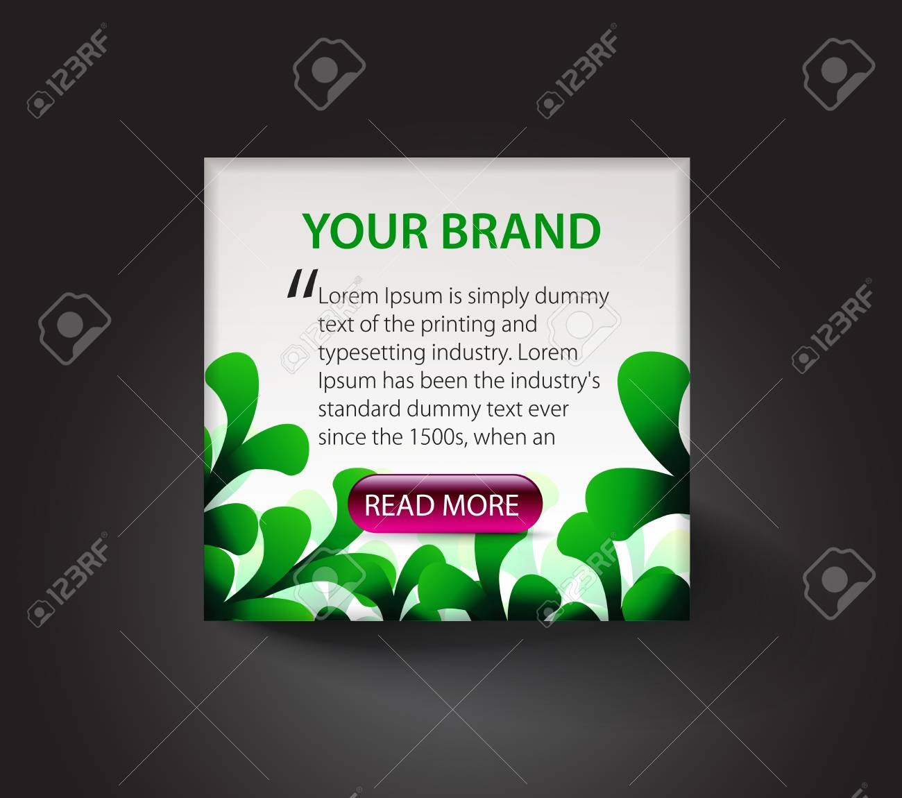 advertis layout design template for business document elements design use. Stock Vector - 8958368