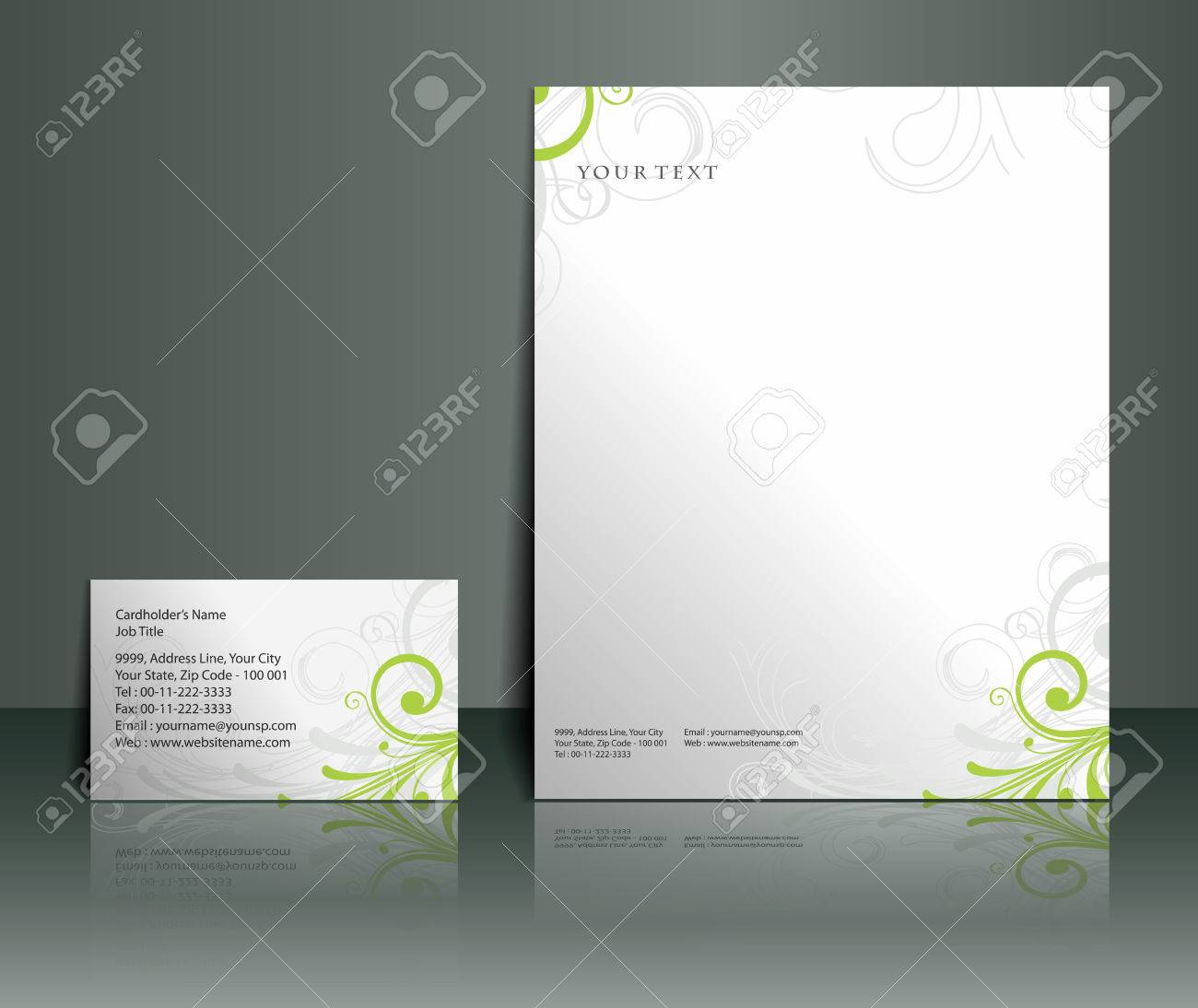 Business style templates for your project design, Vector illustration. Stock Vector - 8958334