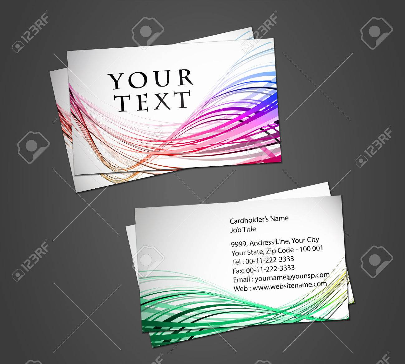 vector business card set, elements for design. Stock Vector - 8970754