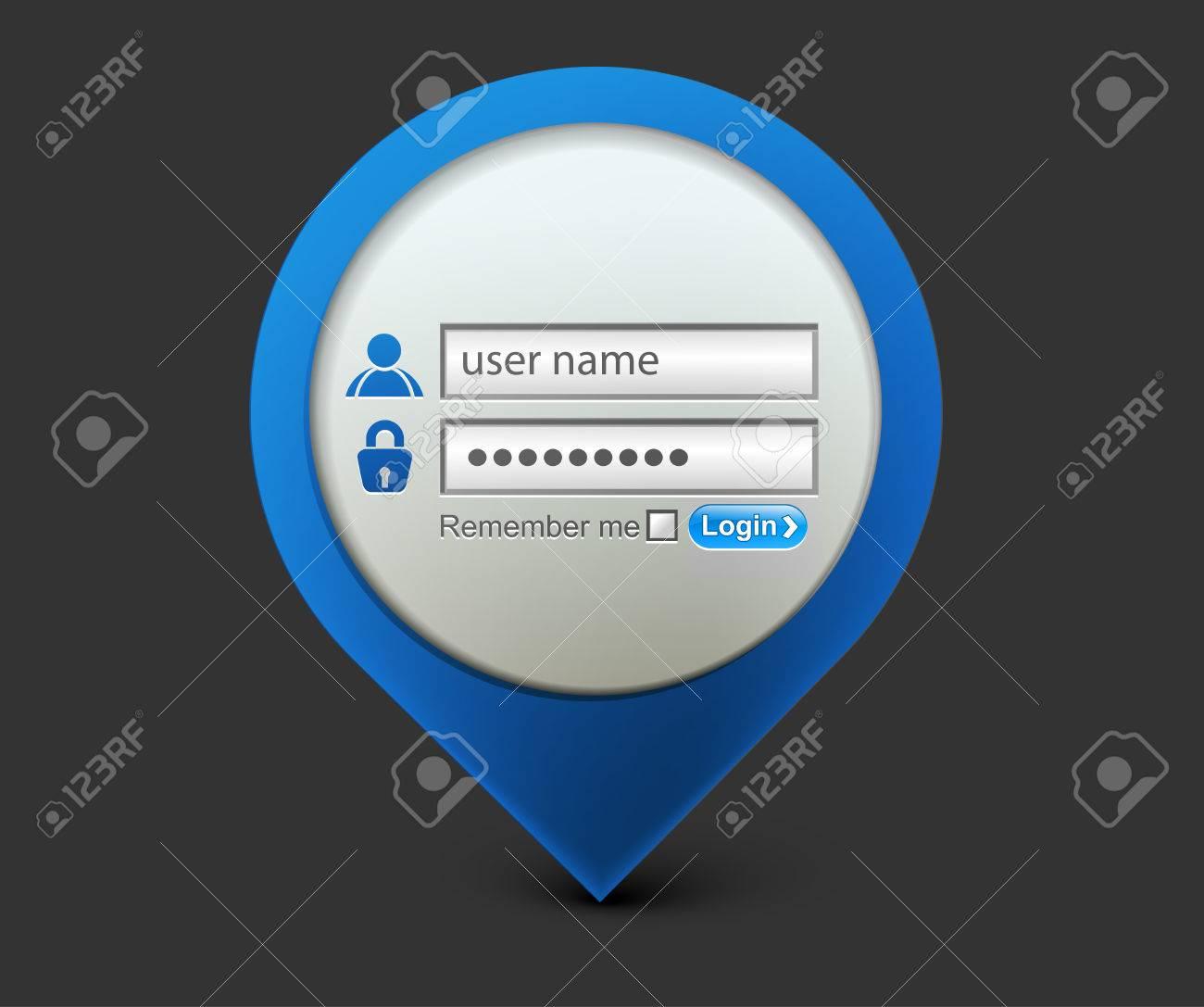 Vector login password, security window screen, web form templates. Stock Vector - 9066228
