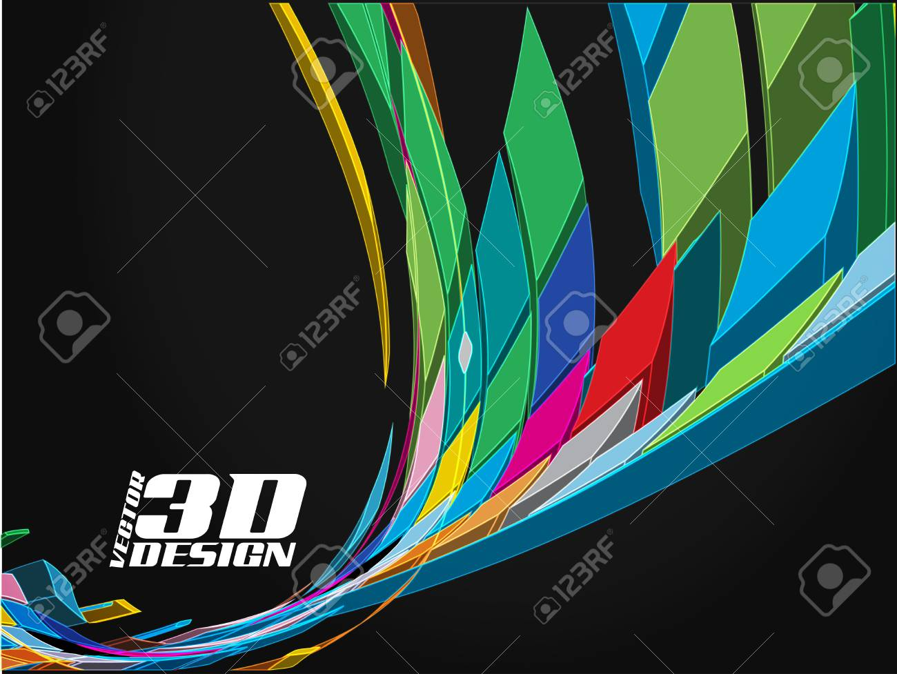 Abstract 3d design background, vector illustration Stock Vector - 9066214