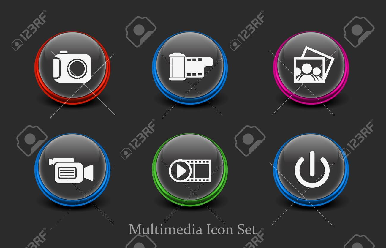 web media icon for your web icon design used. Stock Vector - 9279883