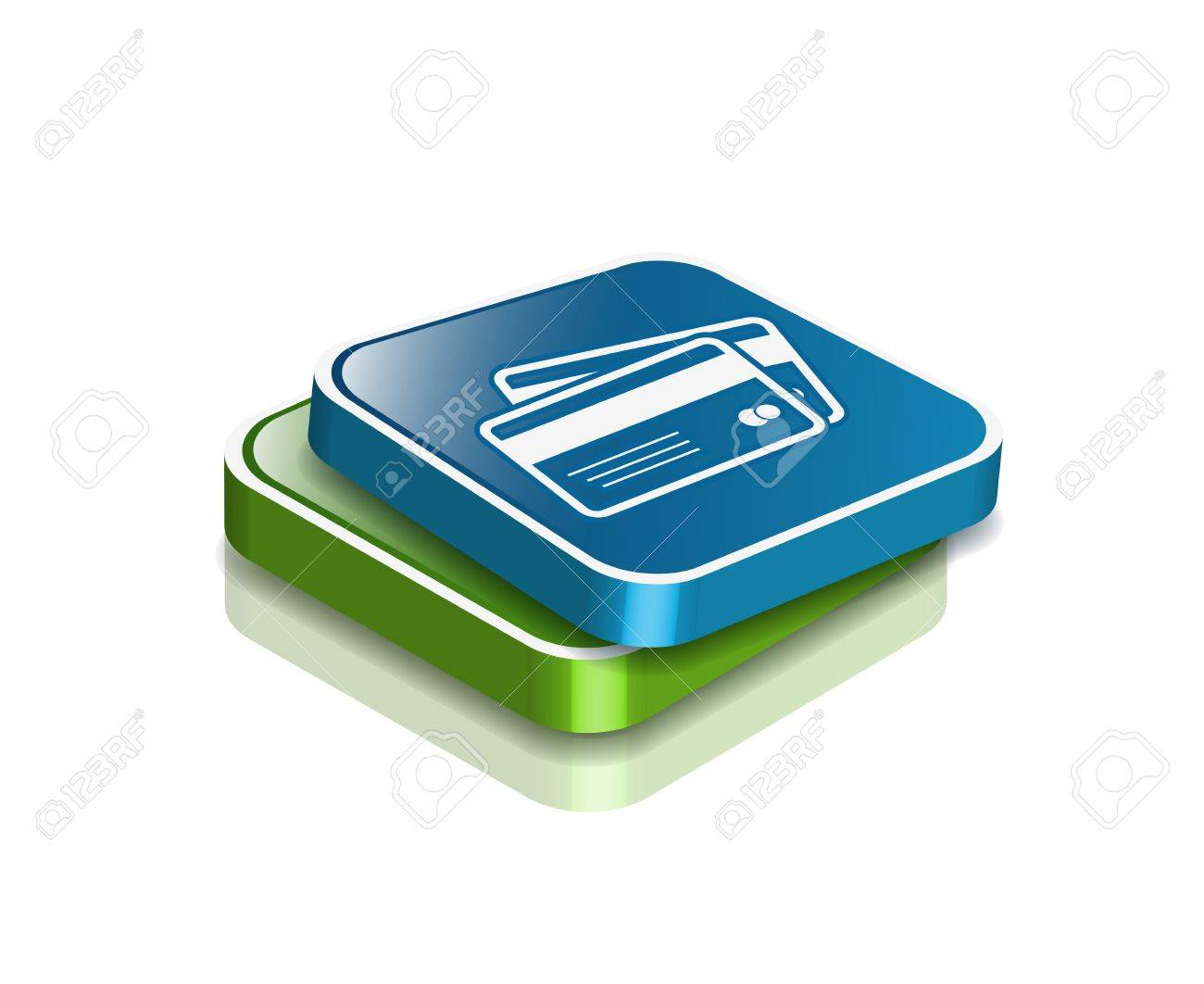 3d vector credit cards icon design element. Stock Vector - 9325716