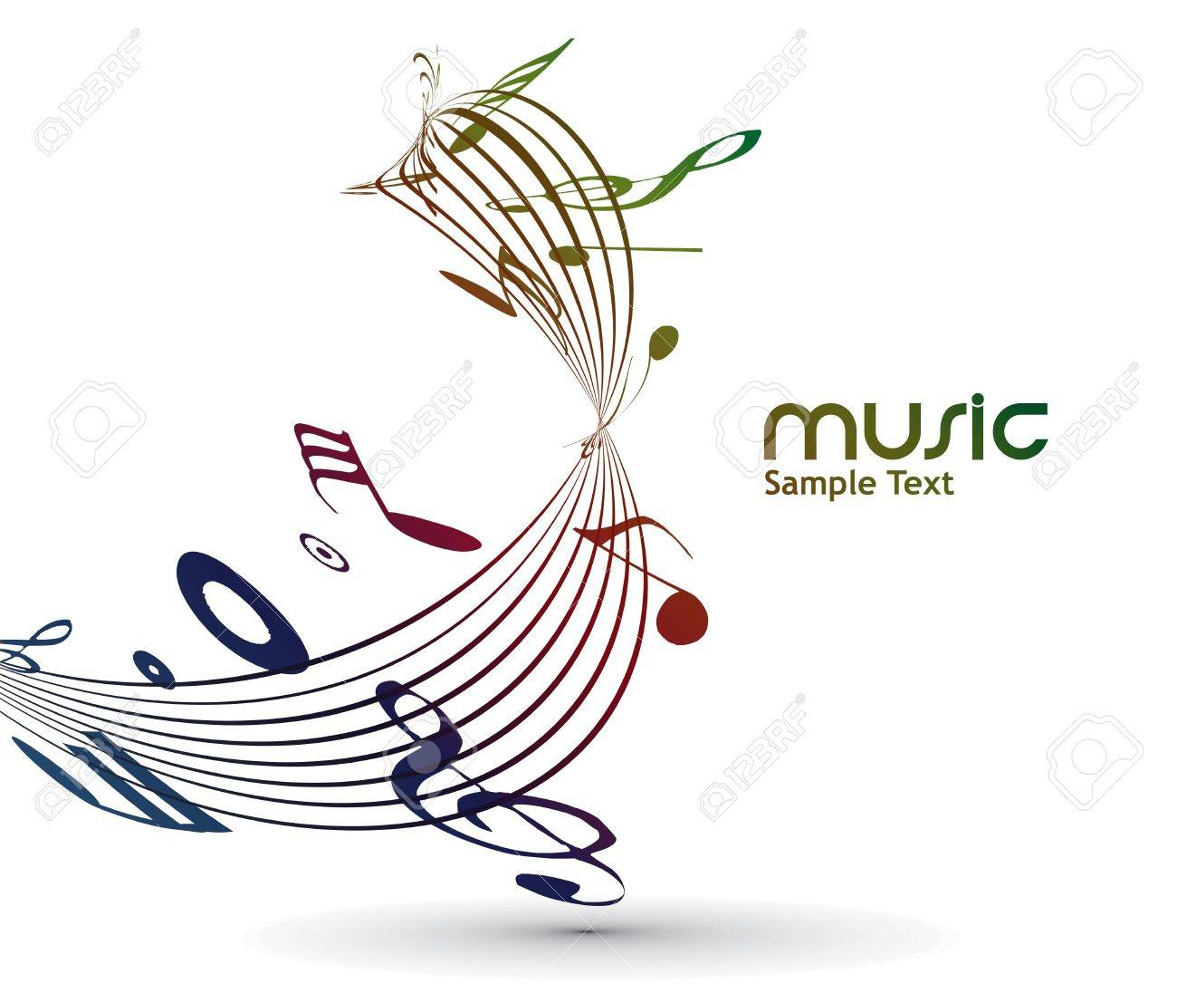 abstract musical notes background for design use. Stock Vector - 9543038