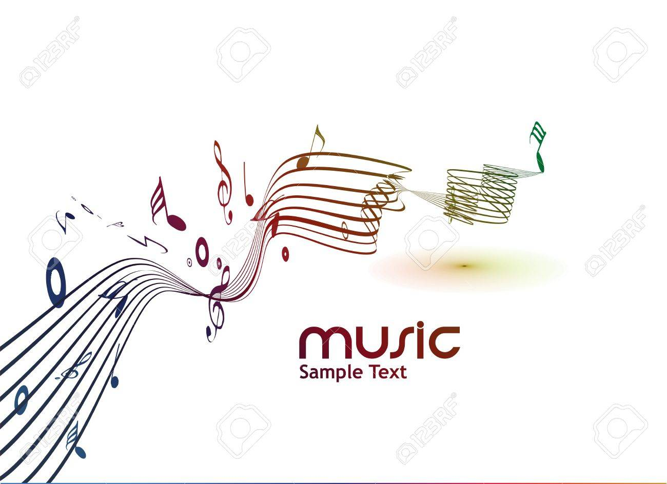 abstract musical notes background for design use. Stock Vector - 9543046