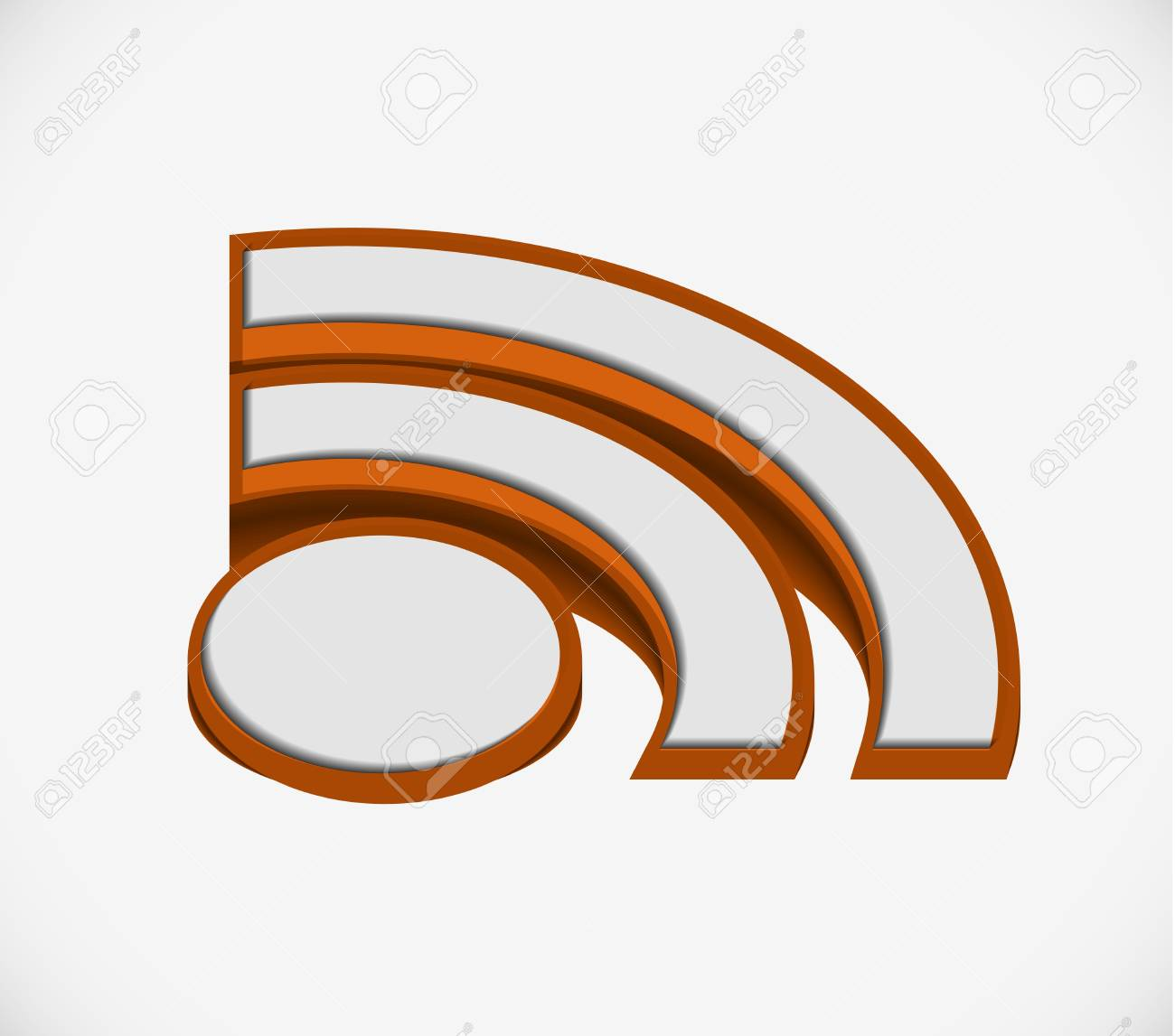 3d illustration of  rss icon over white background Stock Vector - 9543084