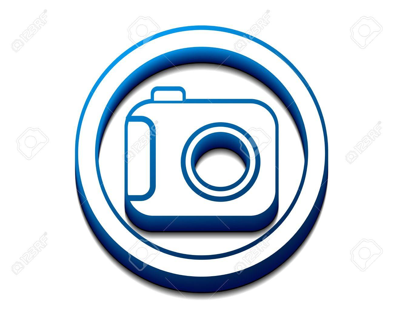 3d glossy camera web icon Stock Vector - 9559311