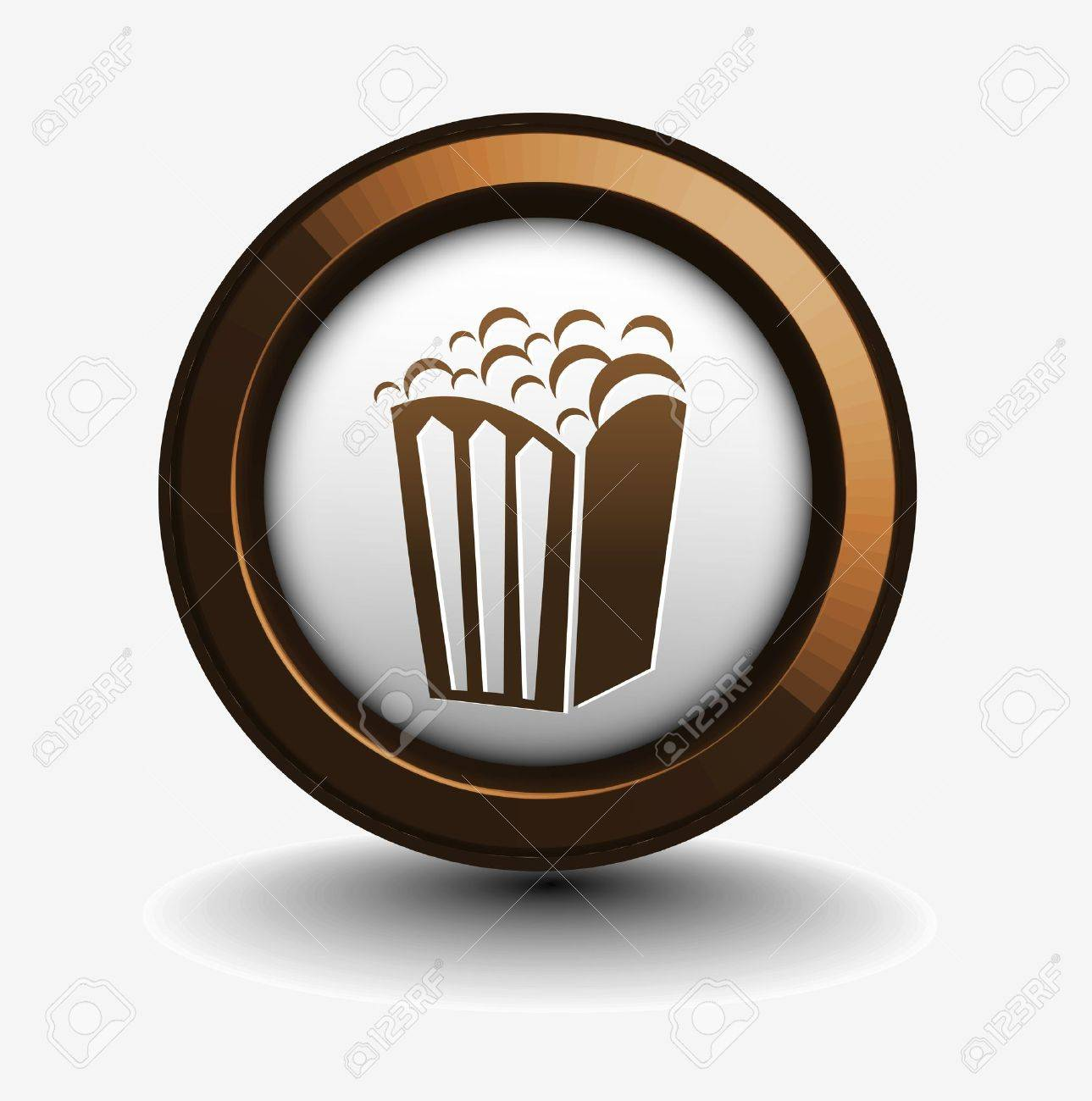 vector design of popcorn icon isolated on white. Stock Vector - 9559370