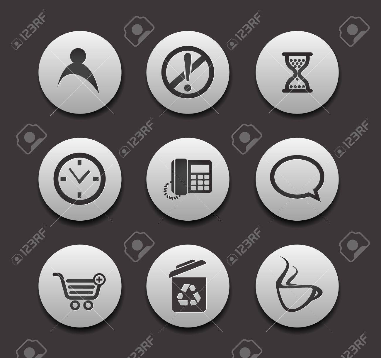 Set of different web Icons graphics for web design collections. Stock Vector - 9559300