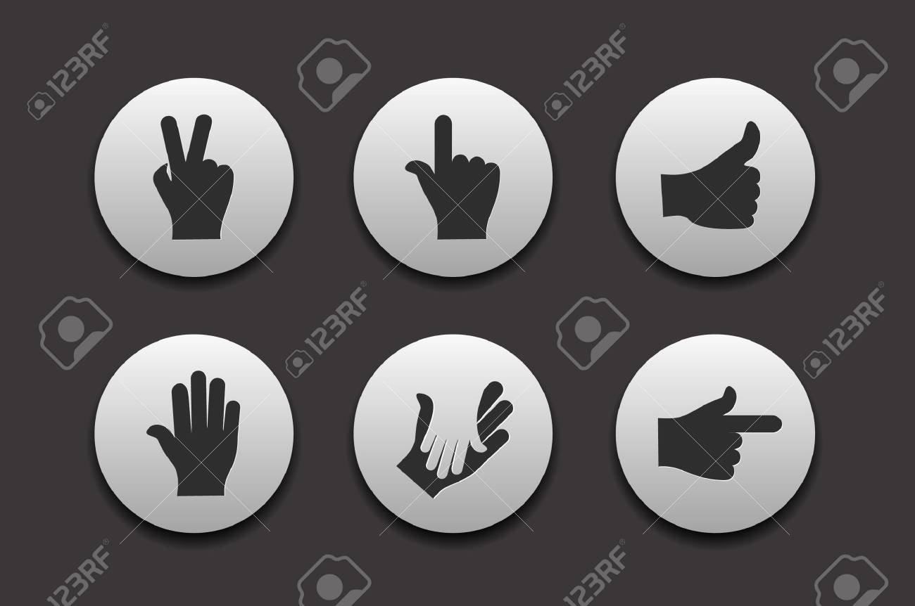 Set of Hand Icons graphics for web design collections. Stock Vector - 9559289