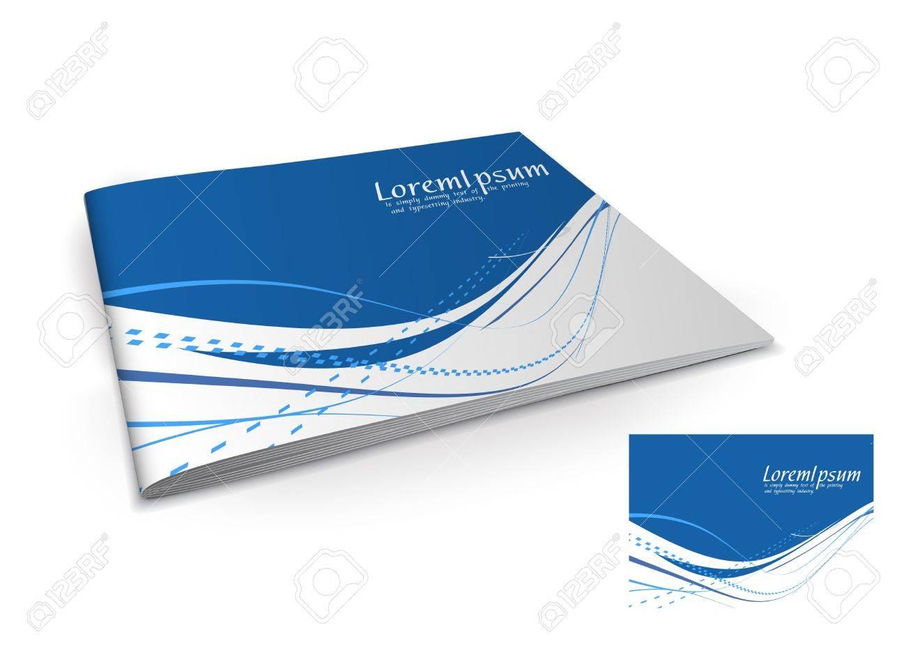Presentation of brochure cover design template., vector illustartion. Stock Vector - 9610805
