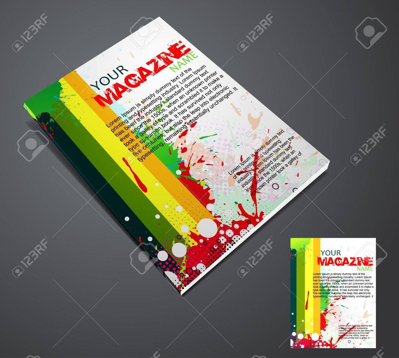 Magazine layout design template. Vector Illustration Stock Vector - 9610864