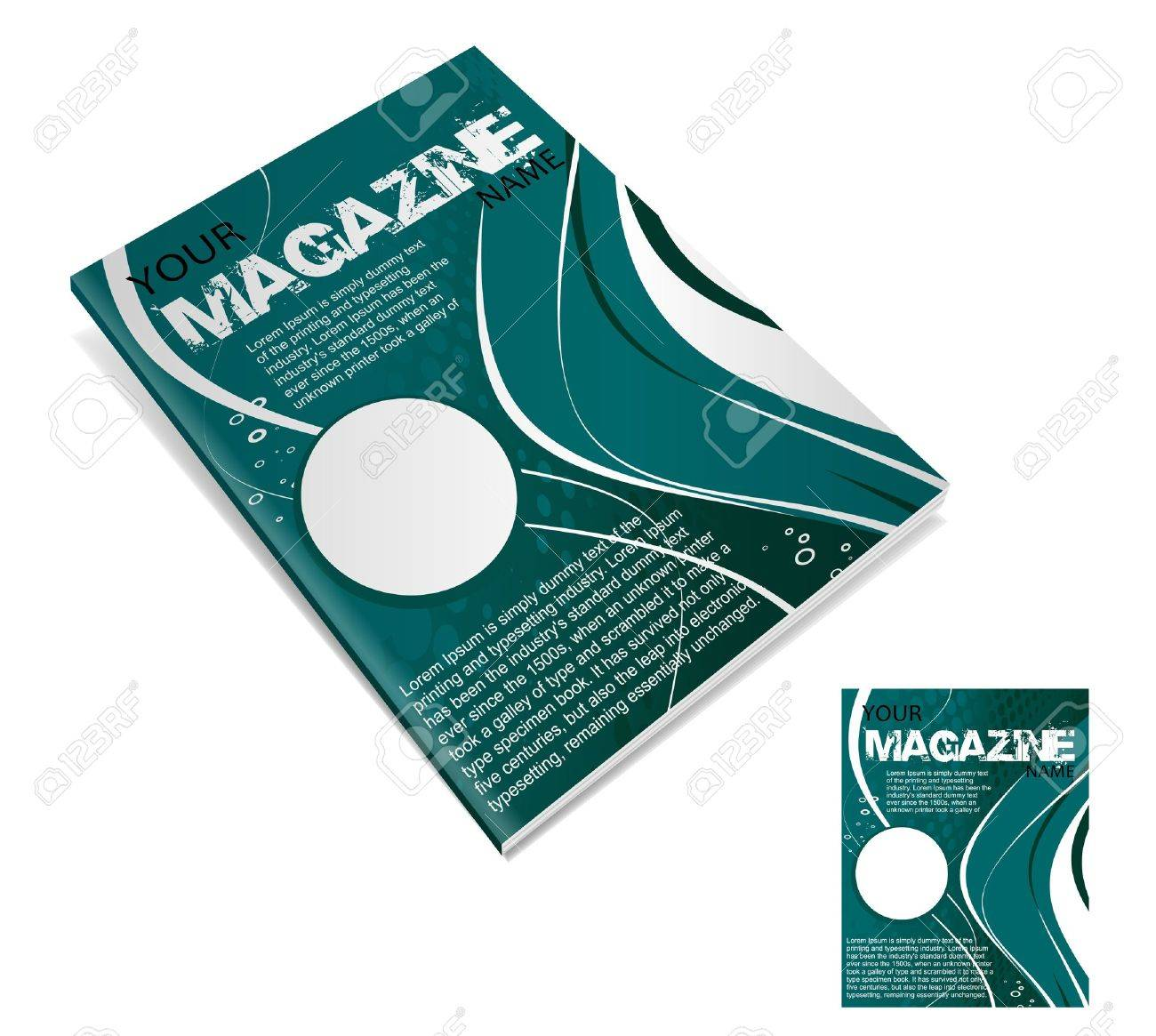 Magazine layout design template. Vector Illustration Stock Vector - 9610848