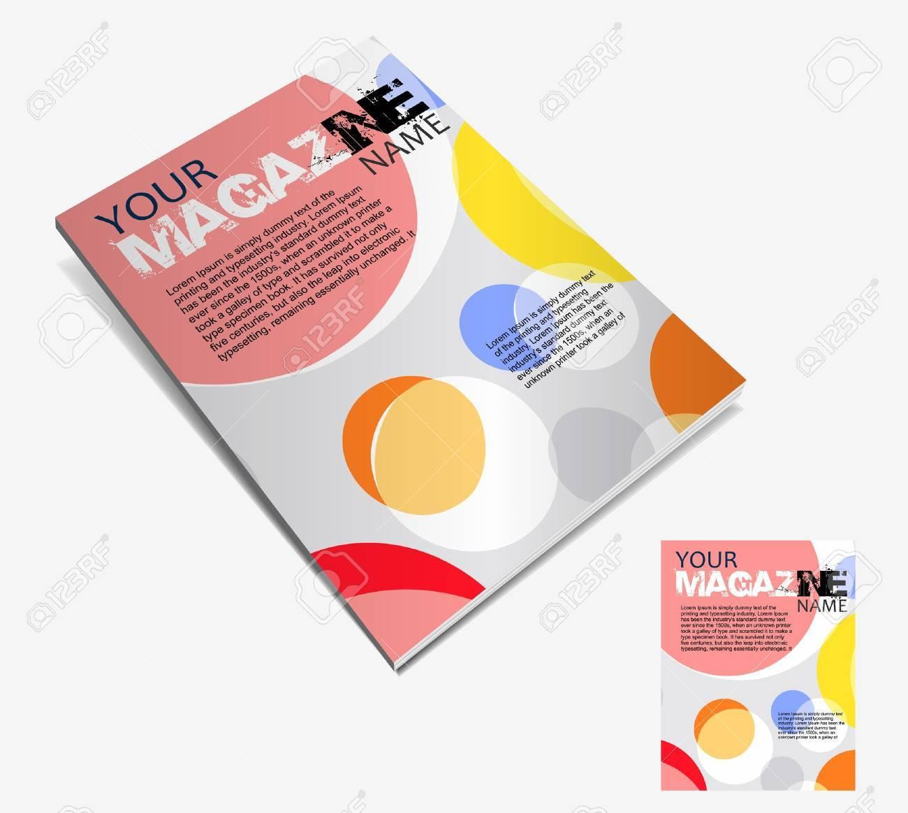 雑誌のレイアウトのデザインのテンプレートです。ベクトル イラスト