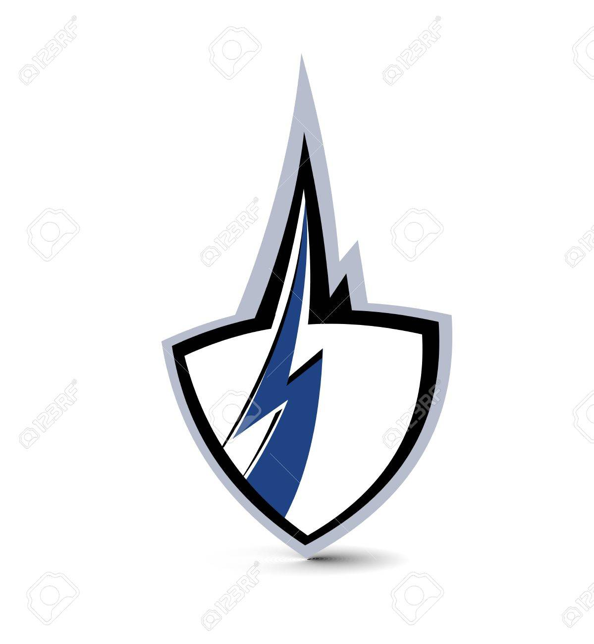 icon lighting. shield lighting symbol icon stock vector 9992264