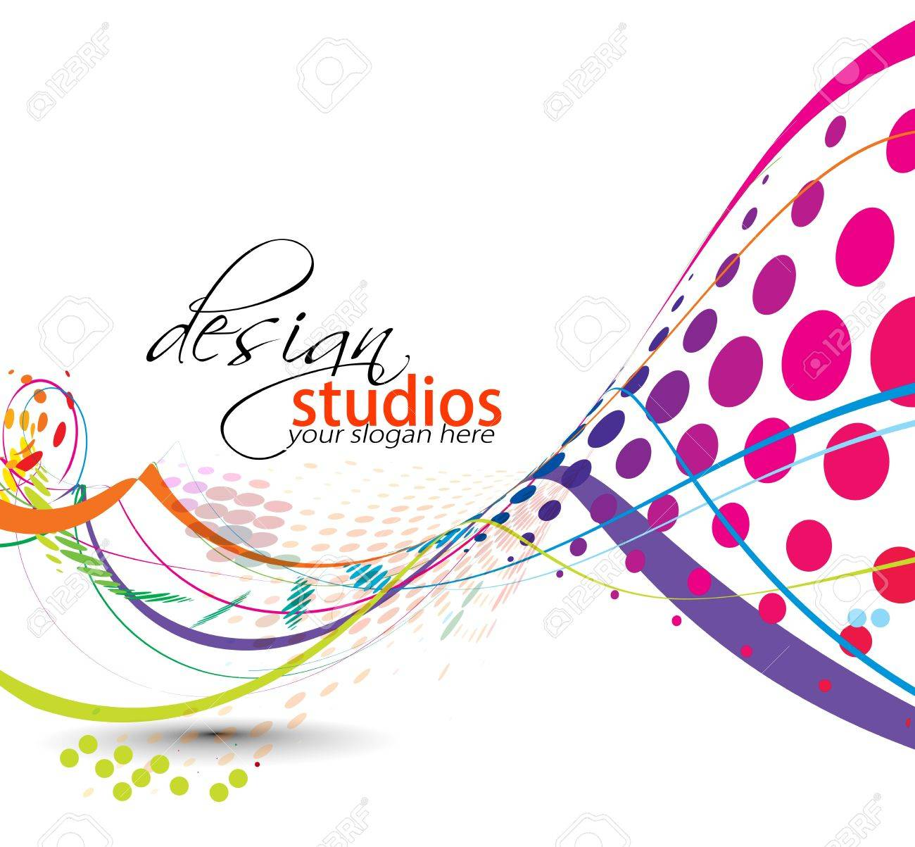 abstract colorful vector halftone background design. Stock Vector - 10028471