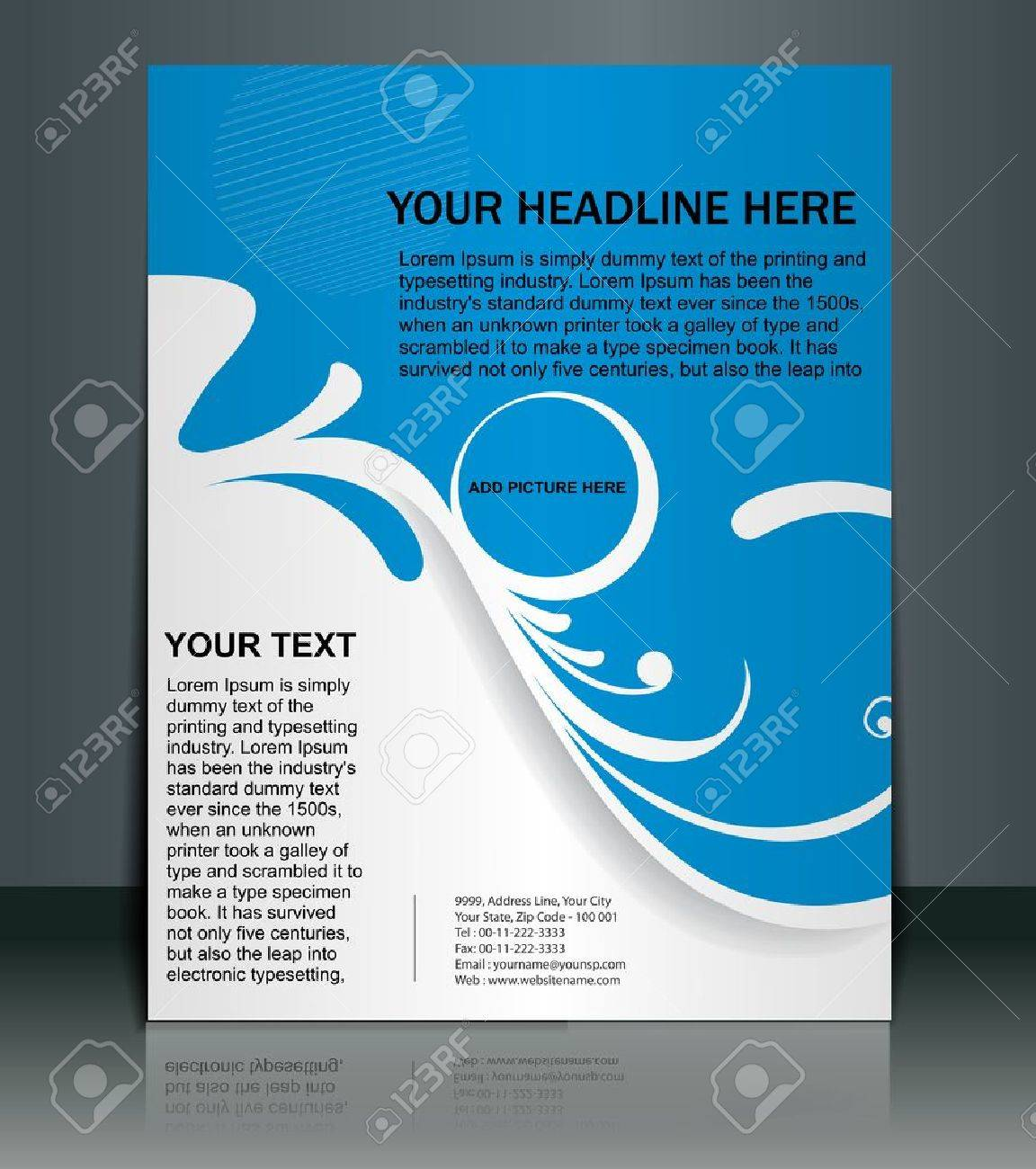 Presentation of Poster/flyer design content background. editable vector illustration Stock Vector - 10054980