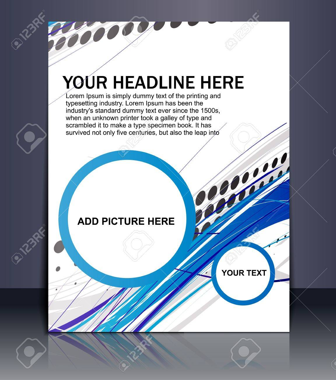 Presentation of Poster/flyer design content background. editable vector illustration Stock Vector - 10054954
