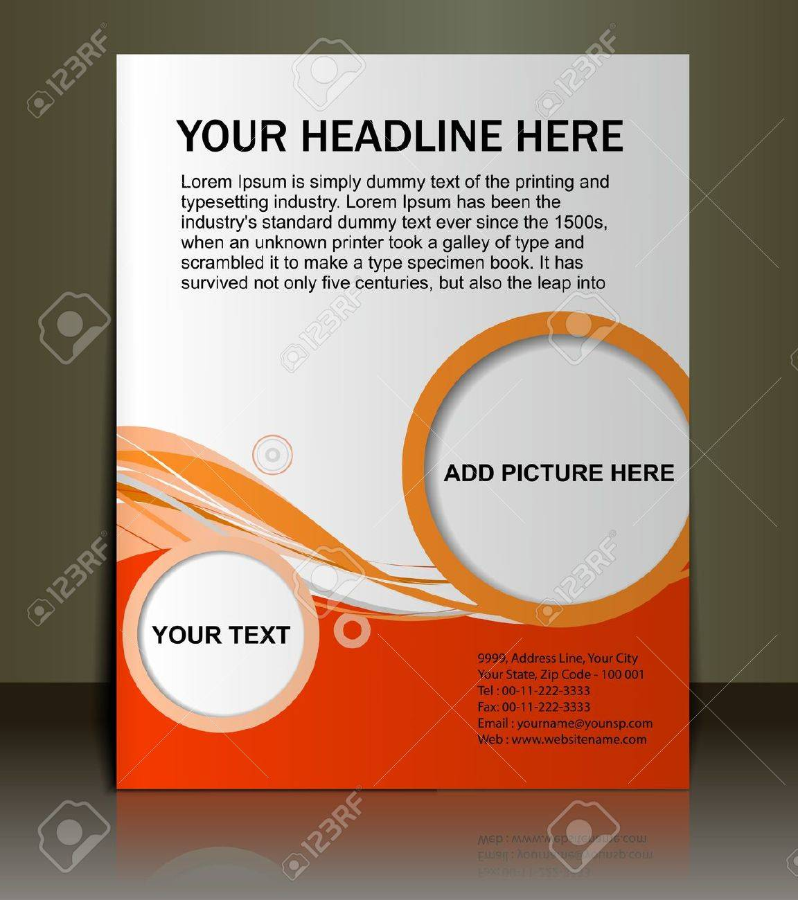 Poster design template free - Leaflet Design Template Vector Editable Presentation Of Flyerposter Design Content Background