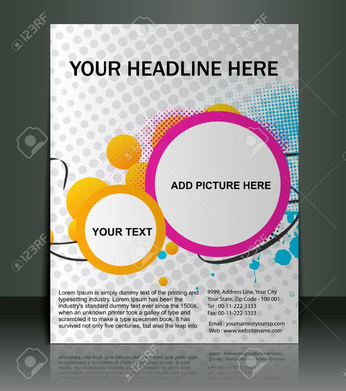 Poster design for free - Vector Vector Editable Presentation Of Flyer Poster Design Content Background