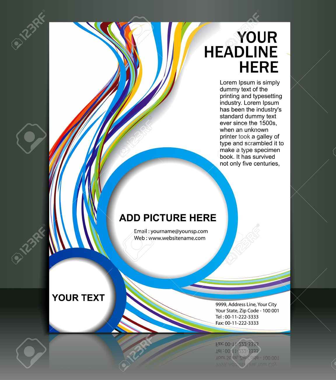 Poster design vector - Vector Editable Presentation Of Flyer Poster Design Content Background Stock Vector 10054957