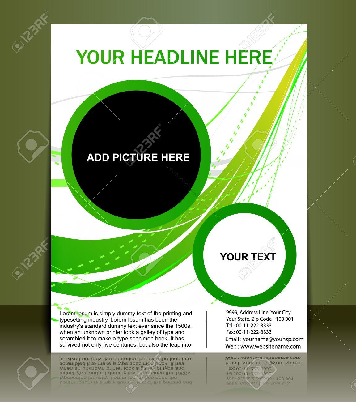 Poster design vector - Vector Editable Presentation Of Flyer Poster Design Content Background Stock Vector 10054914