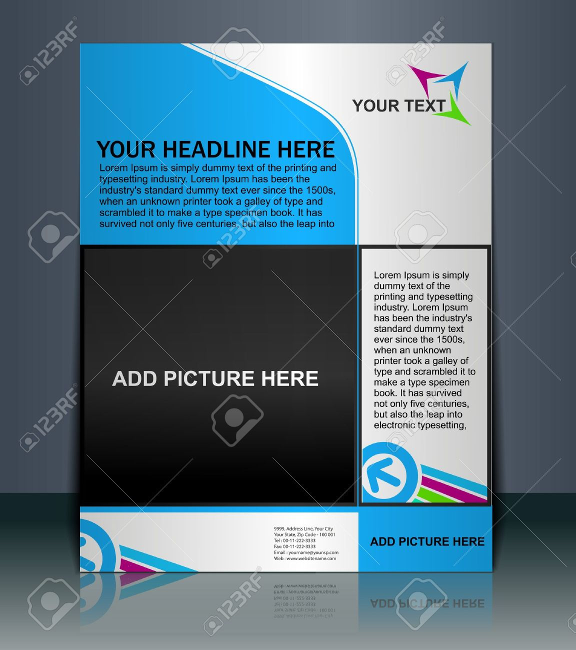 vector editable presentation of flyer poster design content vector vector editable presentation of flyer poster design content background