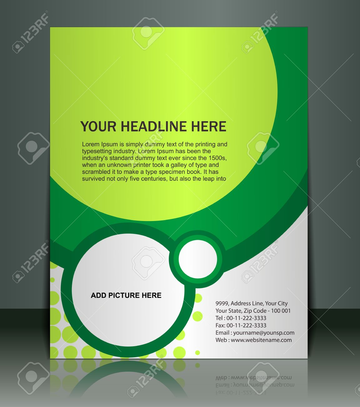 Poster design vector download - Vector Editable Presentation Of Flyer Poster Design Content Background Stock Vector 10054922