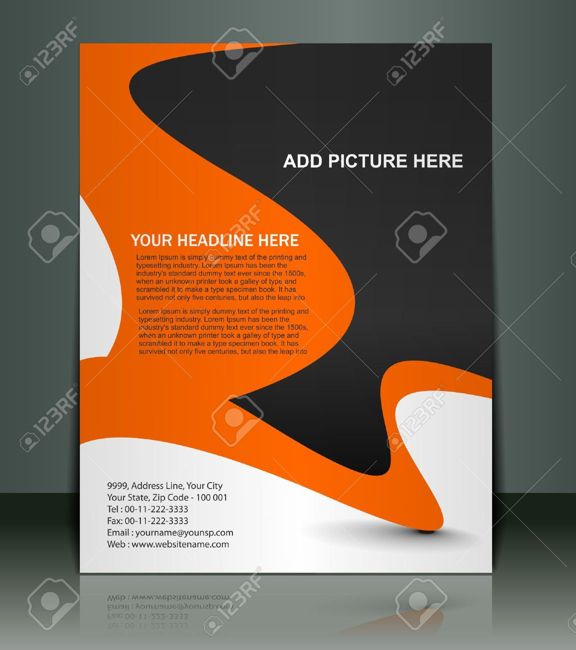 Poster design vector - Vector Vector Editable Presentation Of Flyer Poster Design Content Background