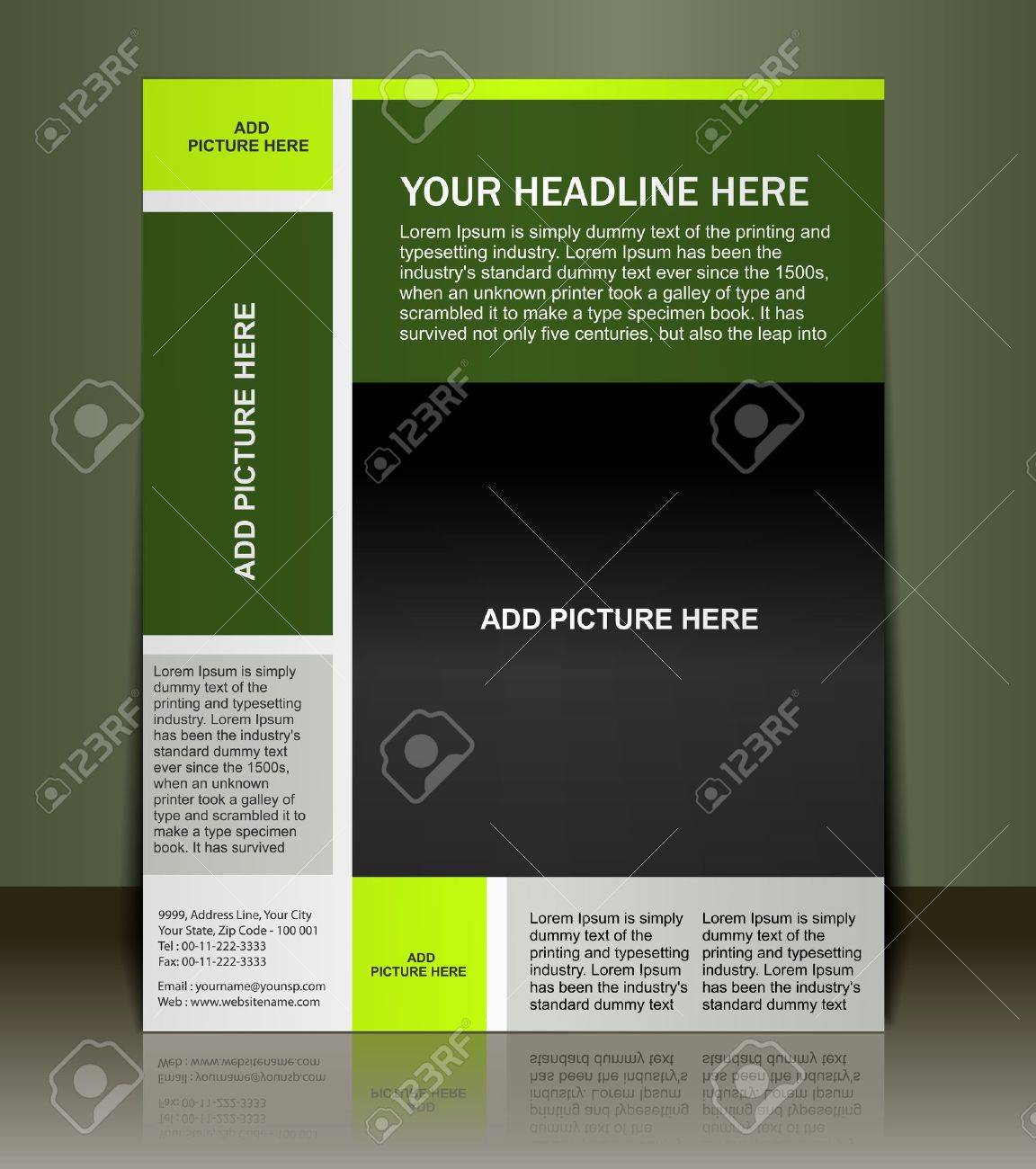 Vector editable Presentation of Flyer/Poster design content background. Stock Vector - 10054913