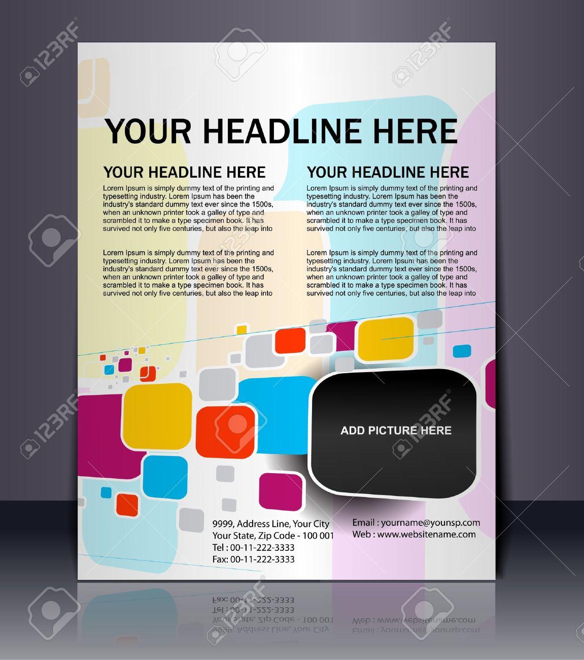 Poster design free - Vector Vector Editable Presentation Of Flyer Poster Design Content Background